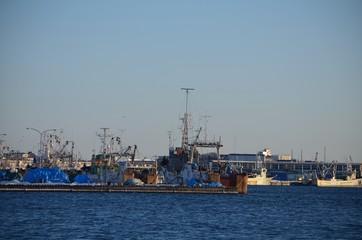 着岸している漁船