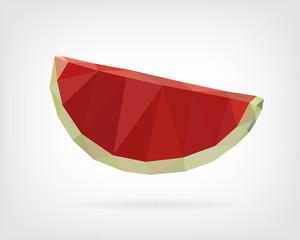 Low Poly Watermelon