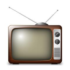 Retro TV in wooden case
