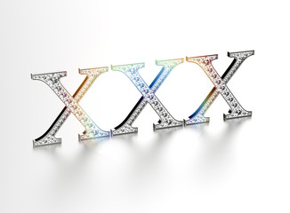 XXX diamond sign