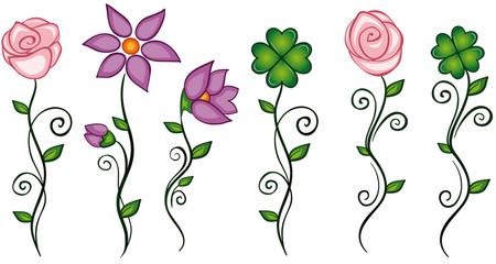 Dekorative Blüten Set