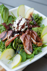 Salad canard smoked duck rocket salad with goat cheese