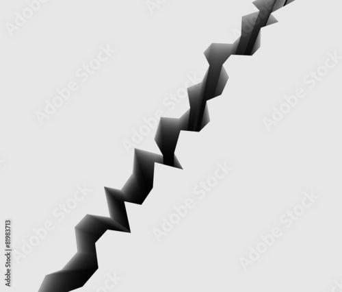 地割れのイメージ