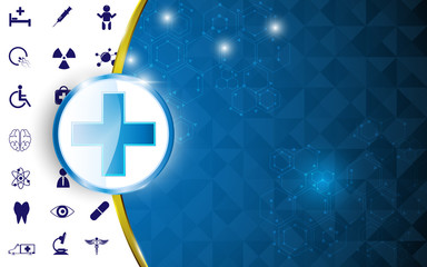 health care concept abstract design background