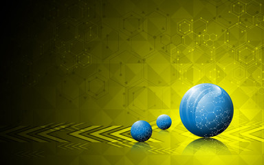 sphere innovation movement abstract background
