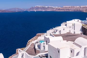 Typical greek buildings on Santorini