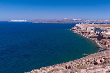 View on Santorini island in Greece