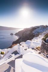 Typical greek buildings in Oia, Santorini