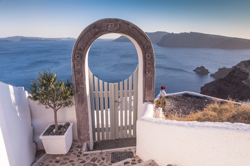 Arched entrance in Oia, Santorini
