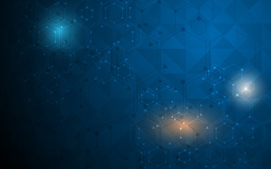 abstract science molecular design background.