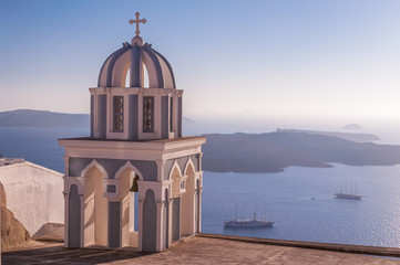 Church roof on Santorini