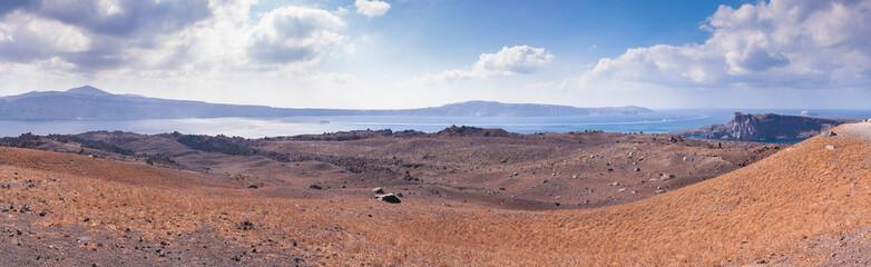 Nea Kameni volcanic island