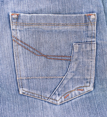 old jeans pocket