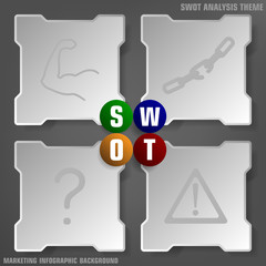 Simply SWOT analysis background theme