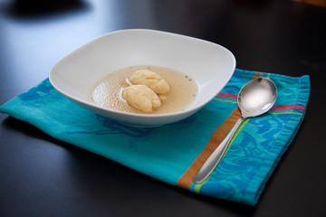 Griesnockerlsuppe - semolina dumpling soup
