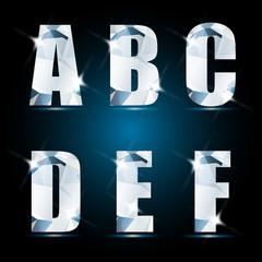Brilliant alphabet