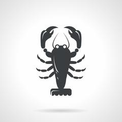 Crawfish black vector icon