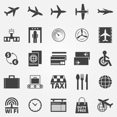 Airport vector icons