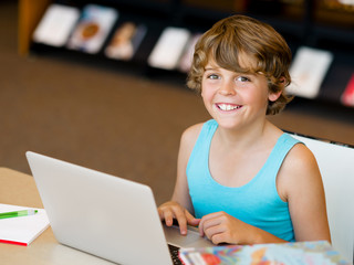 Little boy with laptop