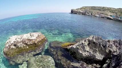 Panorama Bay on the island of Gozo