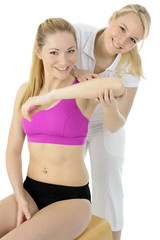 Physiotherapie und Reha an Arm