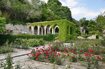 Roman bath   in the yard of Balchik palace , Bulgaria,ruins