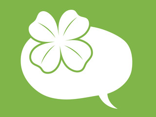 st patricks day speech bubble with clover