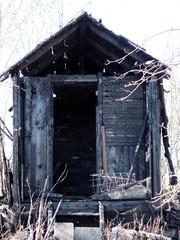 Abgebrannte Hütte