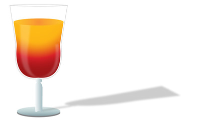 cocktail in a glass beaker
