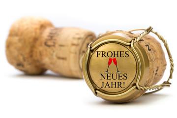 Champagner Korken frohes neues Jahr!