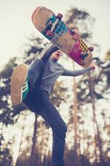 skater guy jumps