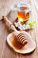 Honey in a rustic style