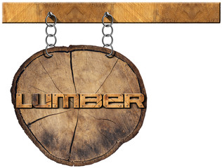 Lumber Industry - Wooden Sign