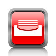 White Inbox icon