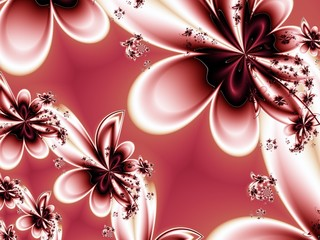 Flower pattern in fractal design. Artwork for creative design, a