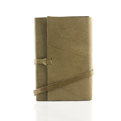 brown Leather notebooks isolated on white background
