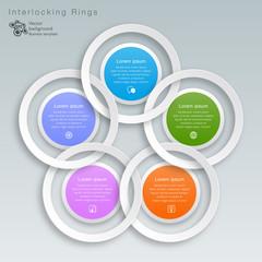 Interlocking White Rings #Vector Graphic