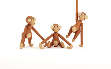 Monkey wooden toy