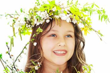 charming girl spring