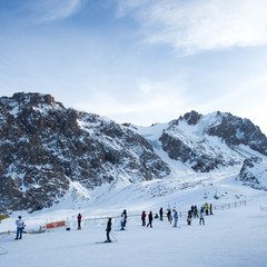 Recreation area for skiers and snowboarders