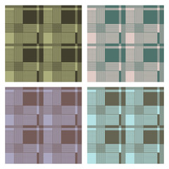seamless tartan pattern, vector, set