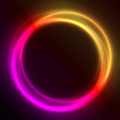 Colorful Glowing Rings  vector eps10 abstract background