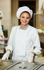 female chef cook