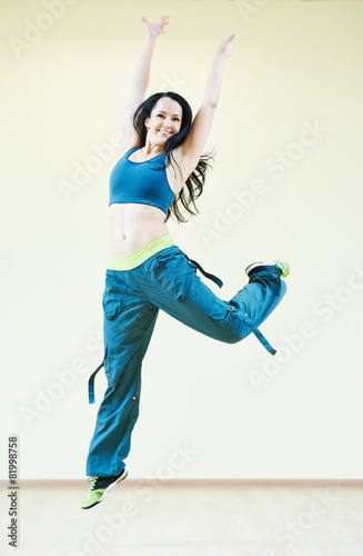 Poster Fitness zumba dancing exercises