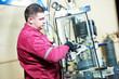 glazier worker with glass - 81998950