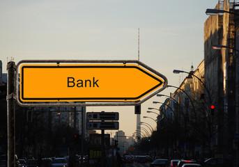 Strassenschild 37 - Bank