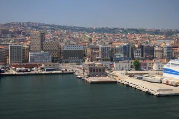 Port city on Mediterranean Sea. Naples, Italy