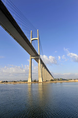 The Suez Canal Bridge, also known as the Shohada 25 January Brid