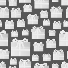 white paper gift package seamless pattern eps10