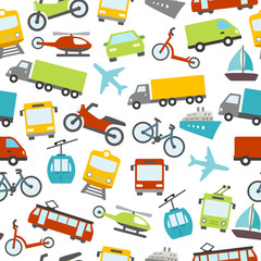 Transport Icons Seamless Pattern